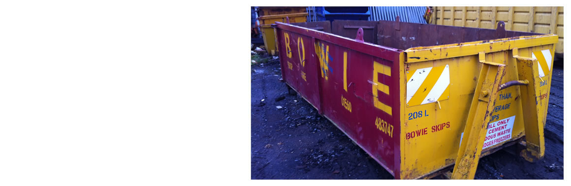 Domestic Skip Hire in Scotland